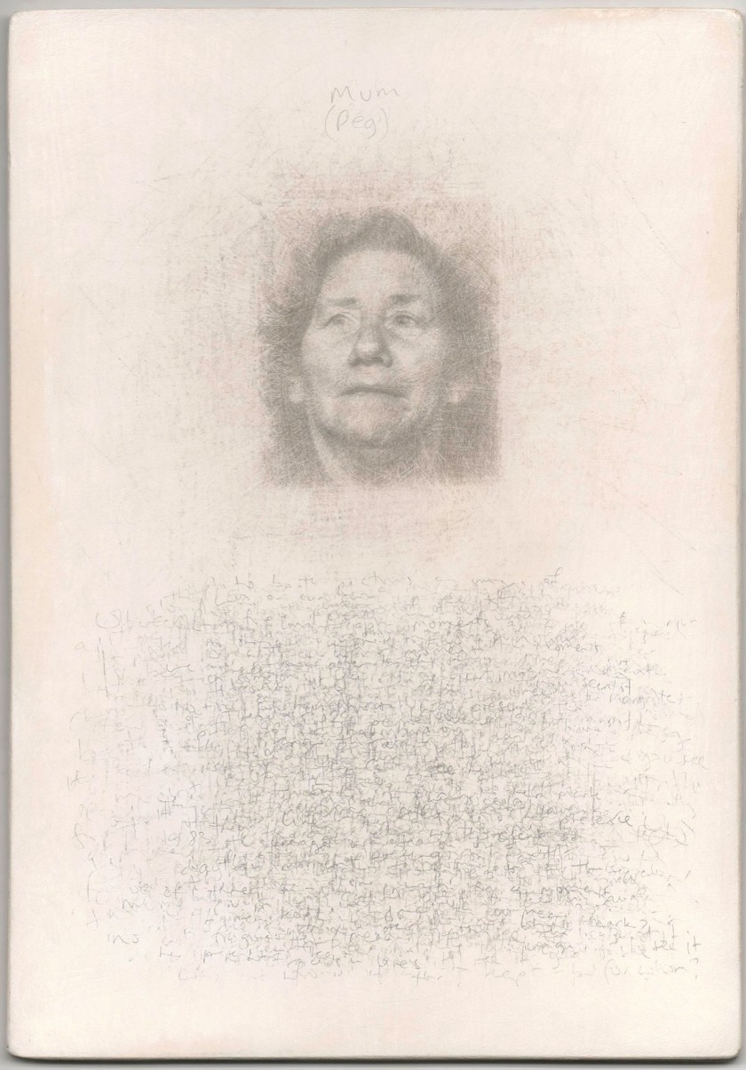 National Portrait Gallery, Portrait Gala 2017, Mystery Portrait Postcard, silverpoint drawing, ROY EASTLAND